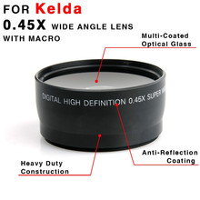 Buy 58MM 0.45x Camera Wide Angle Fisheye Lens Macro Canon DSLR T1i T2i XTi XSi Photo Studio Accessories for $16.73 in AliExpress store