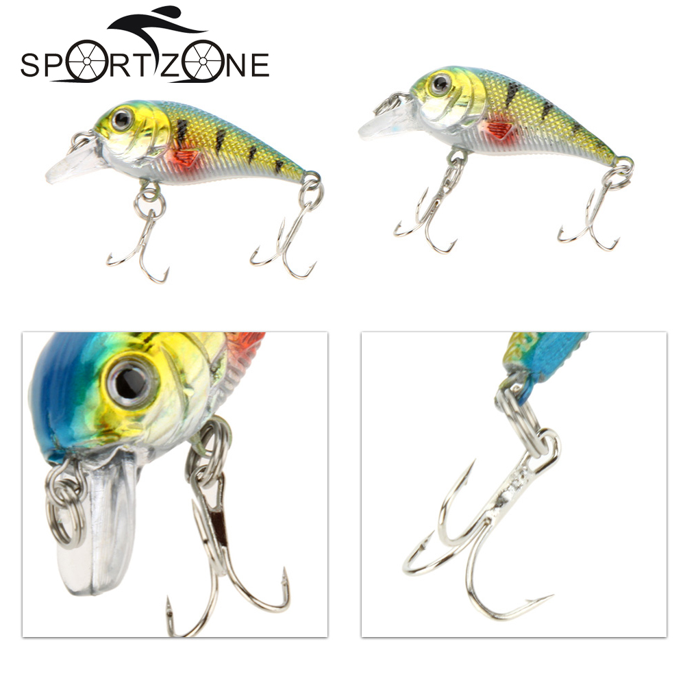 Artificial 3D Eyes Small Carp Fishing Lure Chubby Fatty Crank Hard Bait Lures Bright Color Pesca Tackle Red/Green - Sports Zone-Keep you heathy store