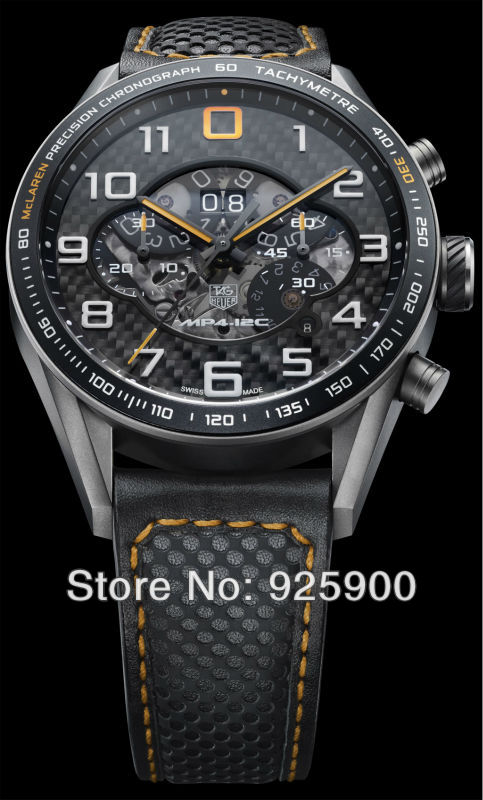 TAG Brand New 2013 Luxury Mens Automatic Watch F1 McLaren TAG MP4 12C Chronograph 2 Mens stainless steel watches Men automatic(China (Mainland))