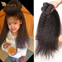 "7a Brazilian kinky straight hair 2 pcs lot human hair extension Italian yaki 8""- 28"" Brazilian Virgin Hair Straight Coarse Yaki(China (Mainland))"