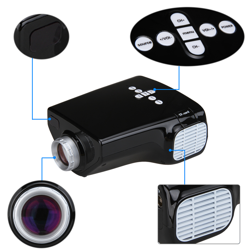 New portable proyector mini e03 projector led video full for High resolution mini projector