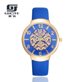 GUOTE Women Luxury Rose Gold Dial Watch 2016 Fashion Casual Flower Leather Quartz Watch Ladies Dress