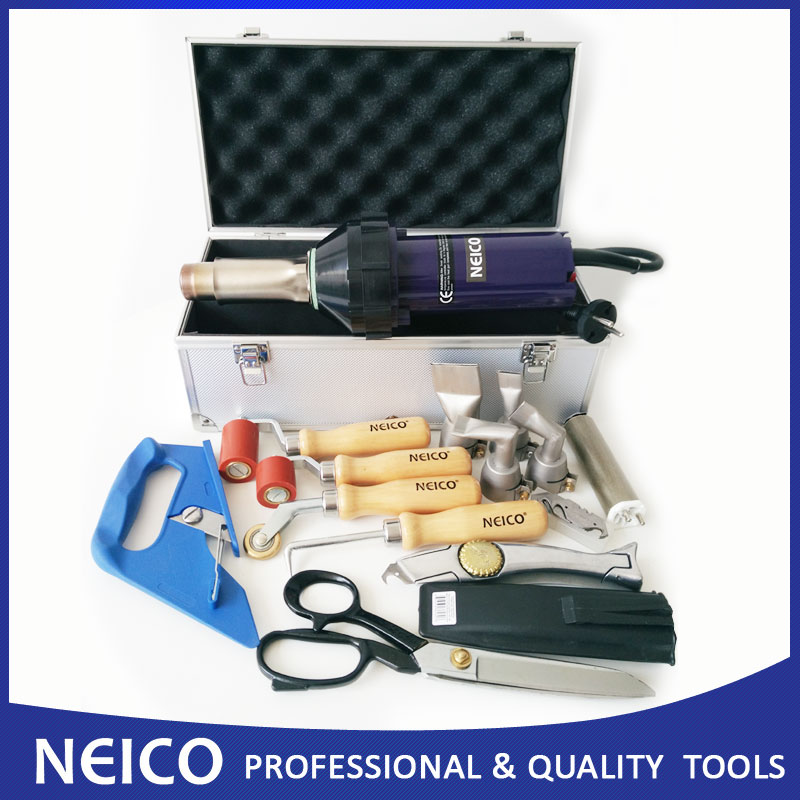 Free Shipping - High Quality Plastic Welder Hot Air Tools Kit , Single Ply Roofing Welding Kit With Heat Gun And Hot Air Parts(China (Mainland))