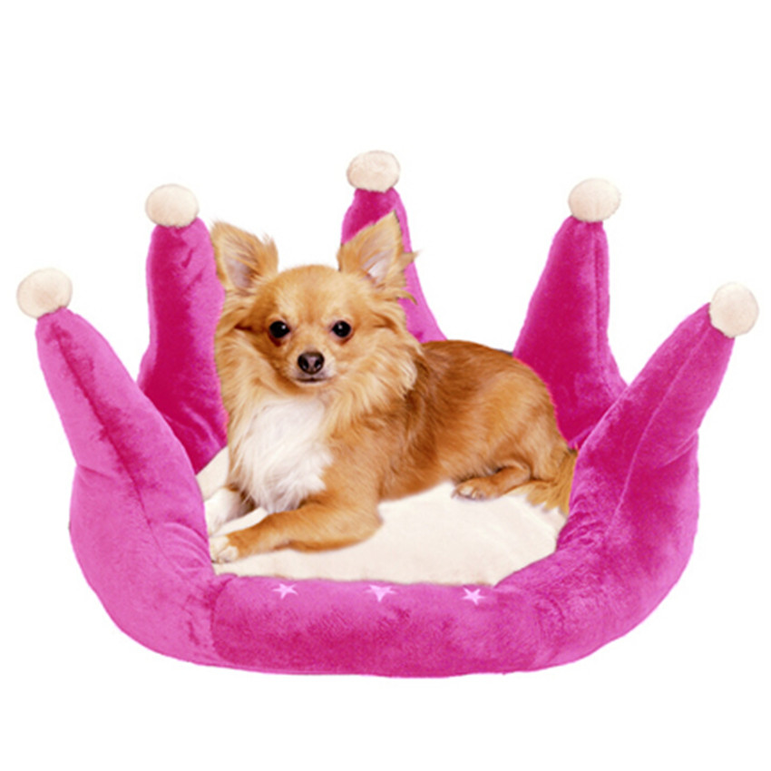 Pet Bed For Cats Puppy Dog Small Animals Pink Blue Princess Pet Bed Crow Warm Cozy Pet Bed Cushion Basket Sofa Couch Mat(China (Mainland))