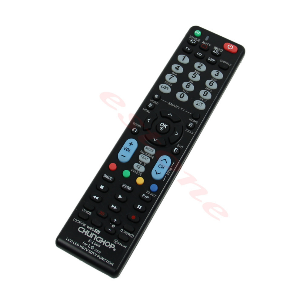 On Sale! 1PC Universal Remote Control E-L905 For LG Use LCD LED HDTV 3DTV Function New Free Shipping(China (Mainland))