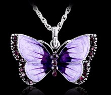 Buy Boho Jewelry Butterfly Pendant Necklace 6 Colors Rhinestone Braided Rope Statement Necklace Women Crystal Butterfly pendant for $1.49 in AliExpress store