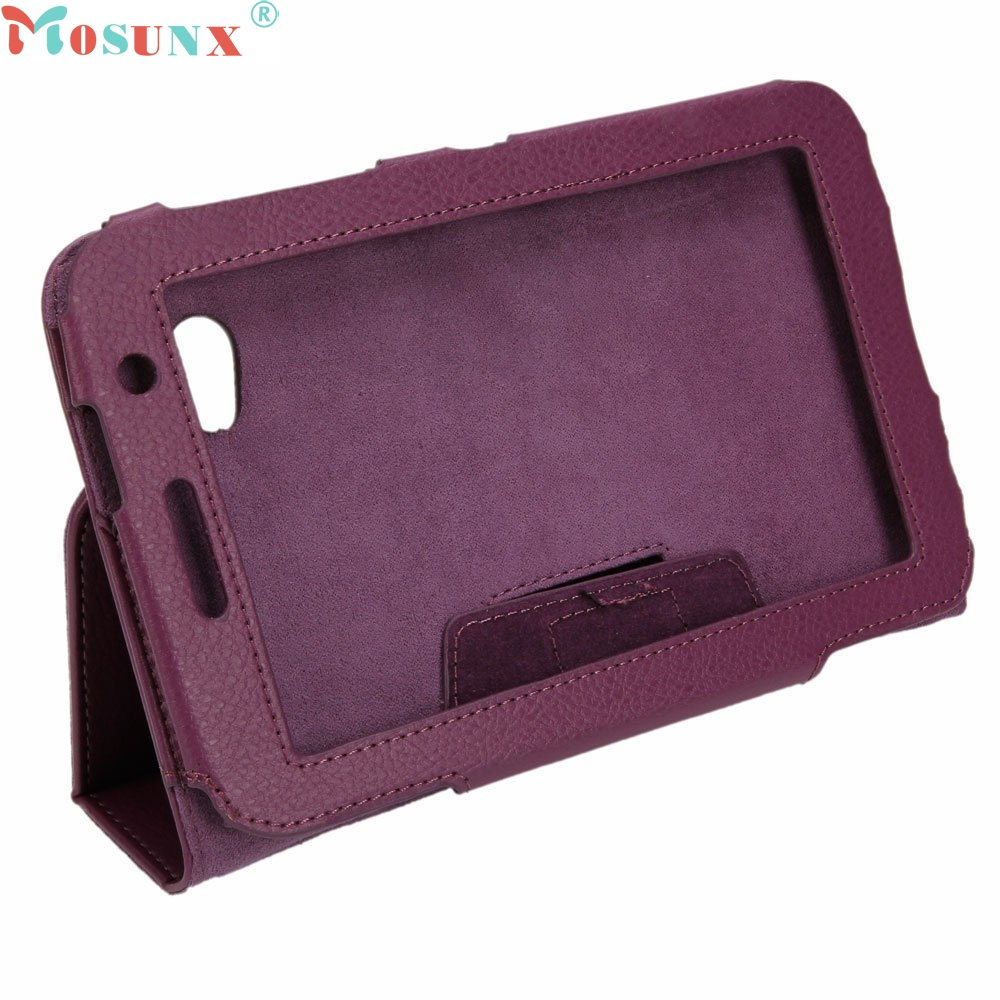 """Beautiful Gift New 7"""" Tablet PC Leather Stand Case for Samsung Galaxy Tab P6200/P6210 Purple Free Shipping Jun21(China (Mainland))"""