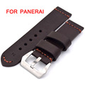New Brown Black Retro Leather Watch Bands Classic Men 22mm 24mm 26mm Strap For Panerai Fast