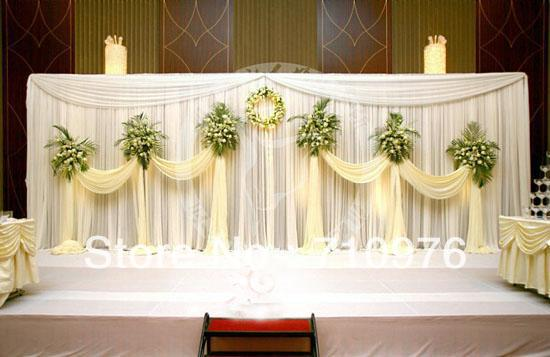 Buy hot sale wedding backdrop stage for Backdrops wedding decoration