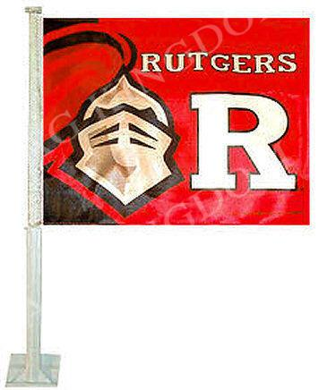 Rutgers Scarlet Knights Car Auto Window Flag(China (Mainland))