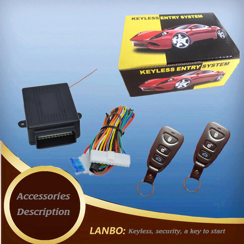 Car alarm system l open-ended box Central locking output of the key to enter the system car lock remote control(China (Mainland))