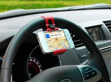 Car Steering Wheel Mount Holder Rubber Band For iPhone iPod MP4 GPS Mobile Phone Holders(China (Mainland))