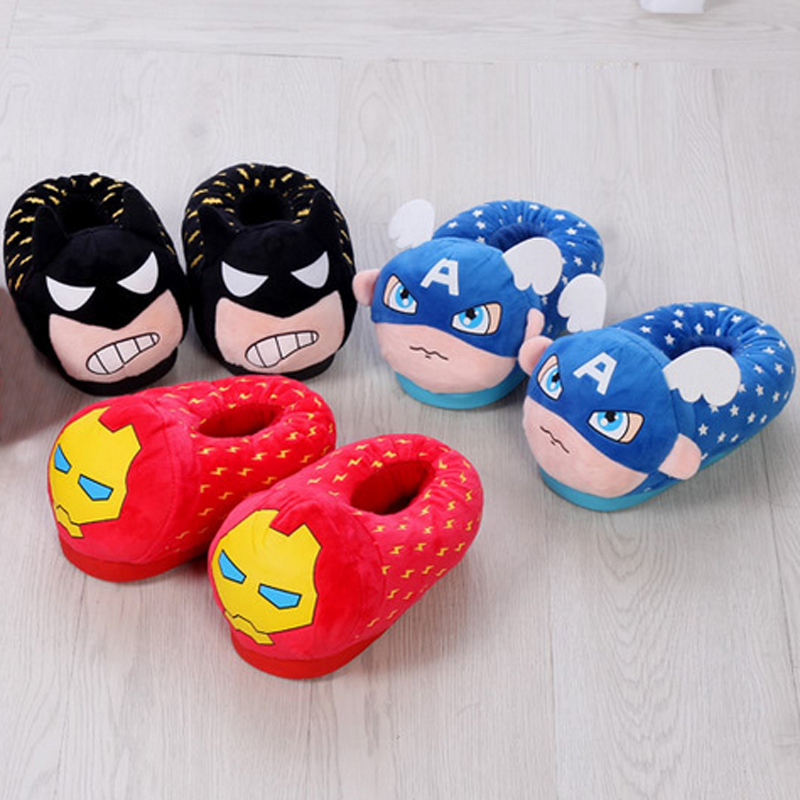 New Winter Home Slippers Women Men Household Shoes Children Family Soft Chinelos Plush Cartoon Indoor Pantofole Donna Pantuflas(China (Mainland))