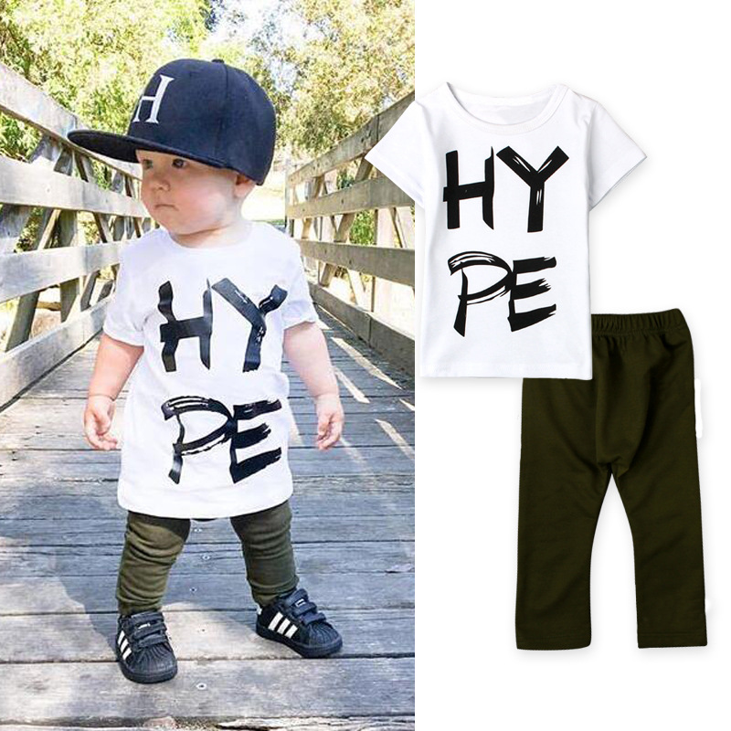 NEW Style Fashion summer boys cotton short sleeve t shirt+pant suit kids casual clothes kids HY PE top trouser set 16O101(China (Mainland))