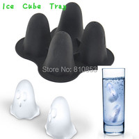 1PCS+ Free Shipping Ghost Shape Ice Mould Freeze Ice Cube Tray Mold Maker Silicone Retail  #1243
