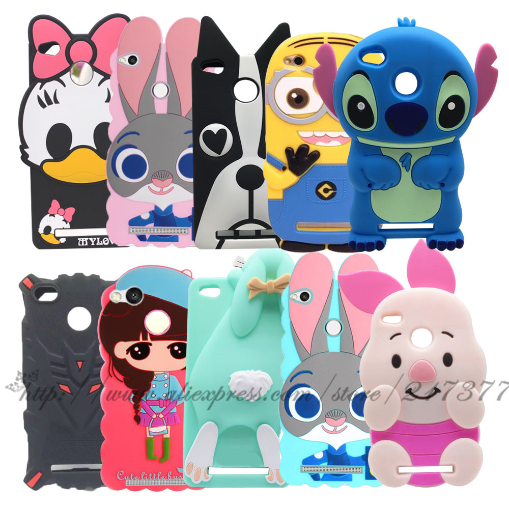 Xiaomi redmi 3S case Stitch Minnie Cartoon 3D megatron Dog Rabbit silicone soft back Cover Case Redmi 3S 3 S Redmi 3 Pro