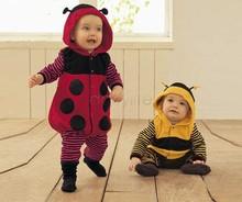 FreeShipping!!!2014 New Cute Cartoon Baby Jumpsuit Fleece LADYBIRD BEE Cosplay Costume Fancy Dress Bodysuit 3-24m 51(China (Mainland))