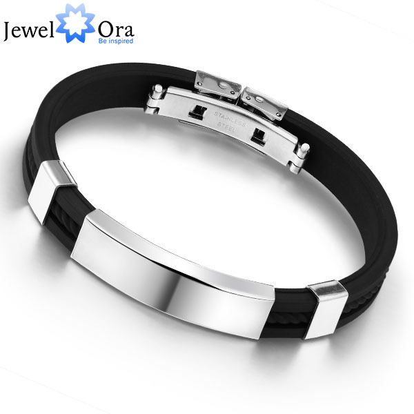 Fashion Men Bracelets & Bangles Jwelry Bracelet Men Cuff Bracelet Bangles Stainless Steel Bracelet(JewelOra BA100618)(China (Mainland))