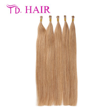#18 new arrivel i tip human hair extensions 14-26inch honey blonde brazilian hair 100% brazilian straight virgin hair on sale