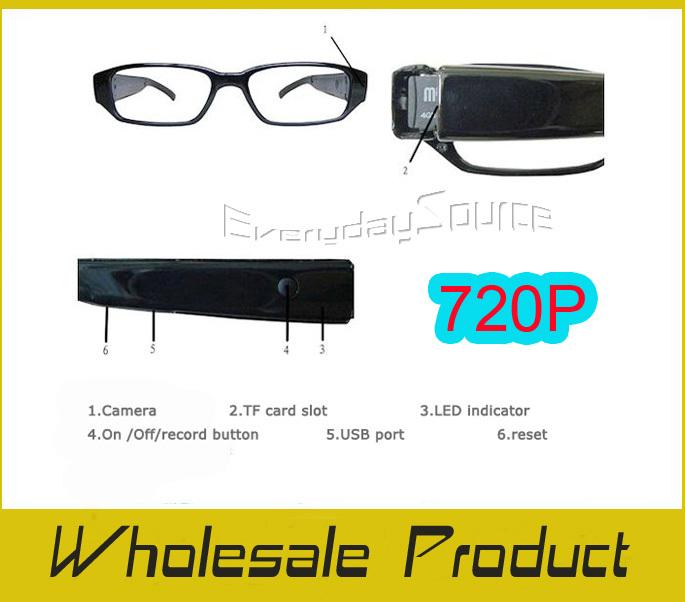 720P Super Mini DVR Slim Glasses HD Camera Eyewear Sunglasses Mini DV, 1280*960 High Quality DHL SHIP(China (Mainland))