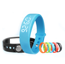 W5 Real Time Temperature Display Smart Bracelet Band Usb Charging Sports Pedometer Fitness Sleep Monitor Wristband