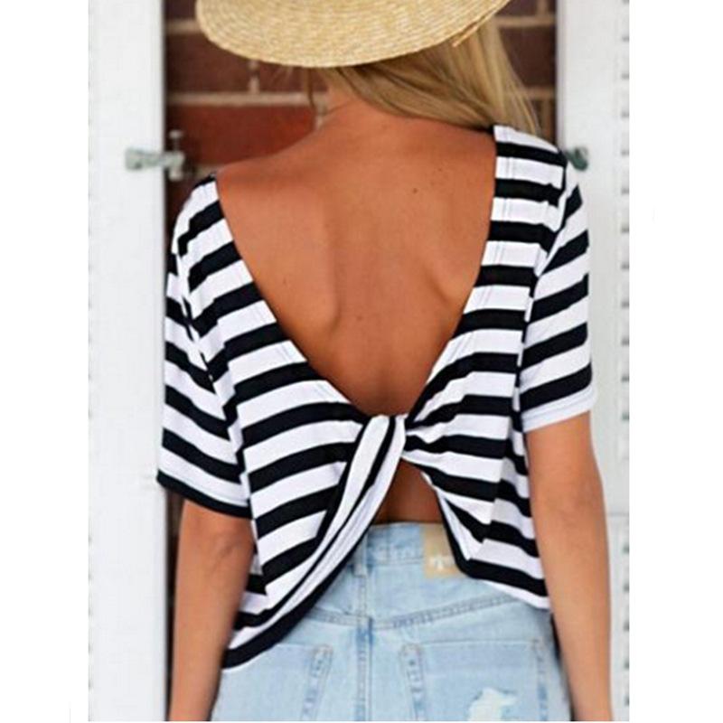 Женская футболка Casual T Shirts 2015 t o KH853349 Striped Tops женская футболка new stripe top t 2015 o vt237