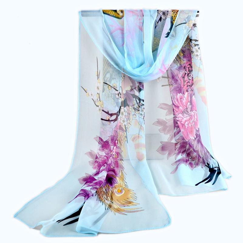 Silk Scarf Sale 150*50cm 2015 Brand New Arrive Korean Women Georgette Chiffon Scarf Shawl Towels Sun Long Scarves Hijab Bufandas(China (Mainland))