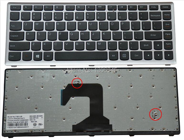 NEW Keyboard For Lenovo Ideapad S300 S400 S400U S405 Laptop US Keyboard(China (Mainland))