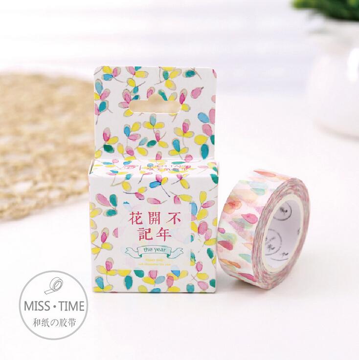 JA315 Colorful Raindrop Decorative Washi Tape DIY Scrapbooking Masking Tape School Office Supply Escolar Papelaria(China (Mainland))