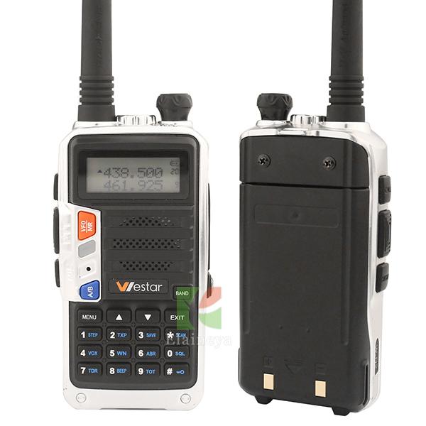 walkie talkie UHF radio FM WESTAR W-D2 radio comunicador 8W walkie talkie portable display two radio handheld 136-174/400-520Mhz(China (Mainland))