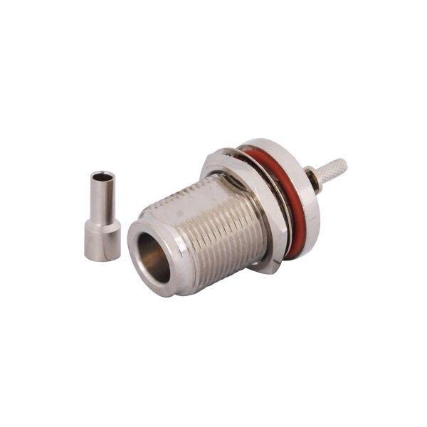 20pcs Connector N-KY-1.5 Long Waterproof N-type female connector crimp RG316 line L16 N female thread length 23mm RG174 cable