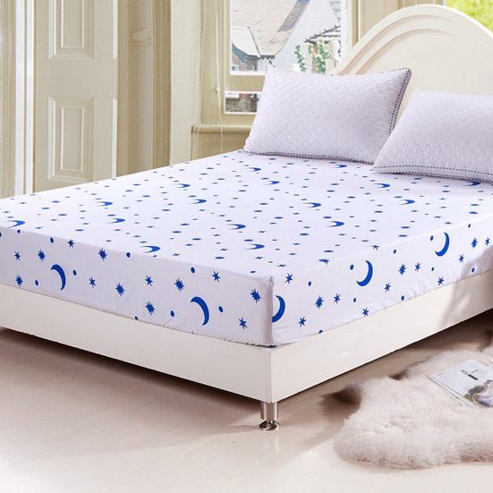 Includes Fitted & Flat Sheet for Double Bed. Elastic at fitted corners is much looser than modern sheets. by Spring Industries. Very Good Condition. Fits 54 x 76