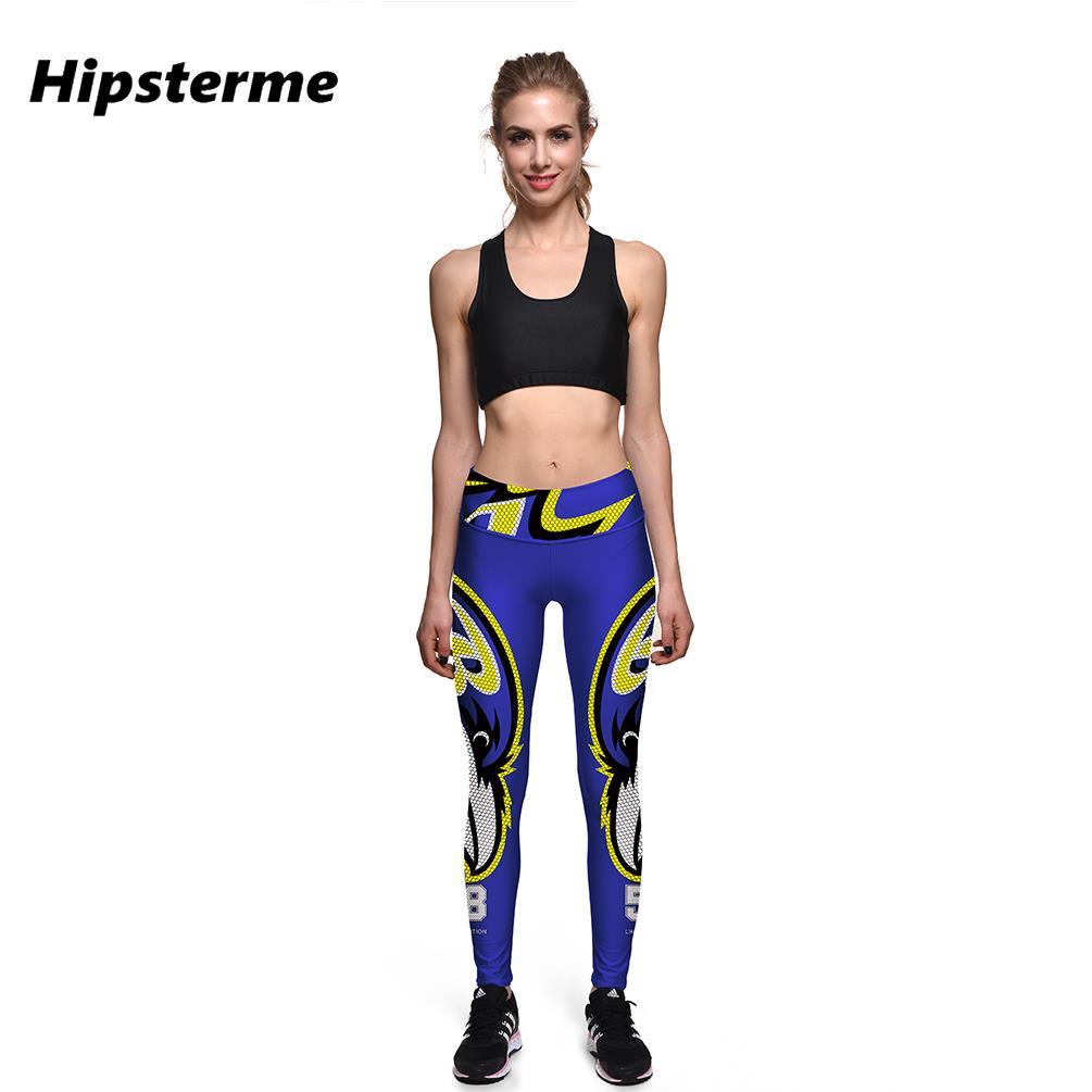 Hipsterme Baltimore Ravens NO.58 3D Digital Printing Legging Fitness Women Sports Leggings Running Pants Elastic Slim Jeggings(China (Mainland))