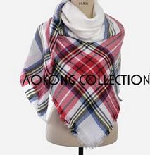 za winter scarf 2016 Tartan Scarf women Plaid Scarf New Designer Unisex Acrylic Basic Shawls warm 10colors new arrival(China (Mainland))