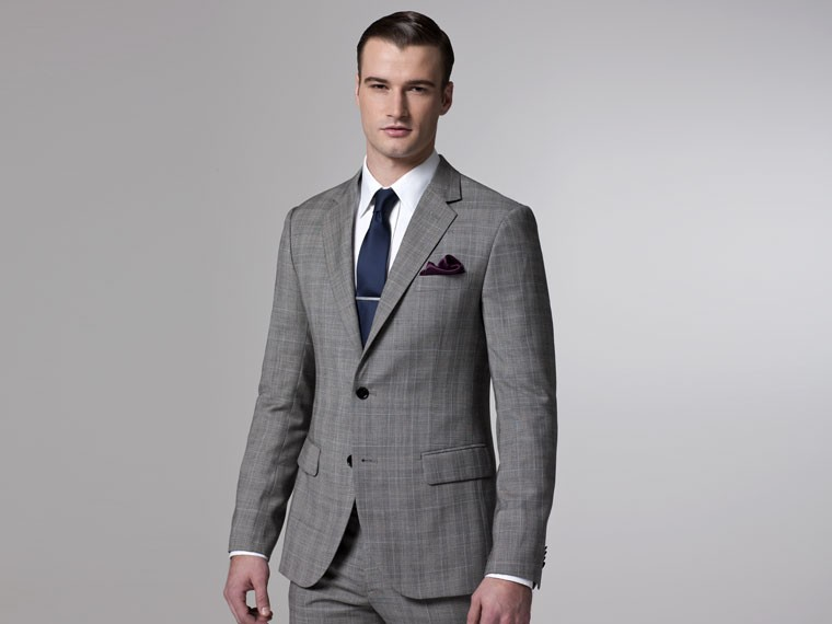 Kumpulan Grey Men S Suits Custom Made Business Slim Fitted Suits ...