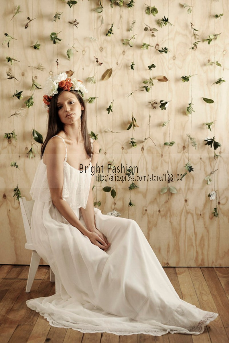 Online get cheap simple plain wedding dresses aliexpress for Simple dress for civil wedding