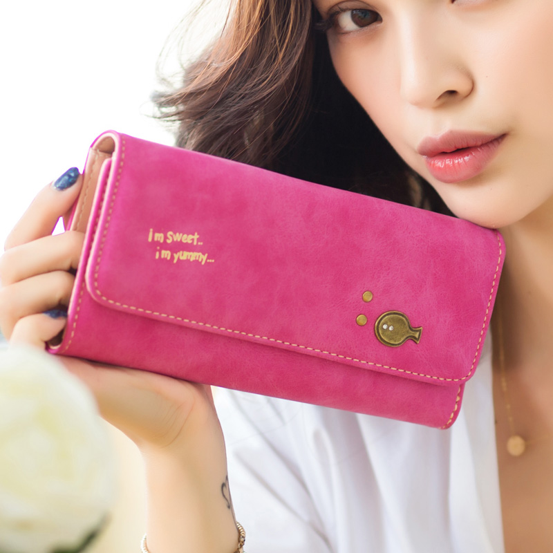 2015 new arrival fashion women wallets cartoon fish  three folded lady long wallet clutch purse large capacity freeshipping<br><br>Aliexpress