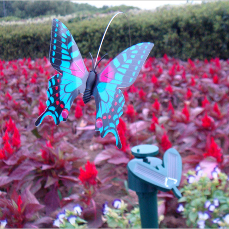 1 Pcs Random Color Mini Solar Power Toy Simulation Butterfly Solar Toy for Kids Children Novelty Flying Solar Butterfly Toy(China (Mainland))