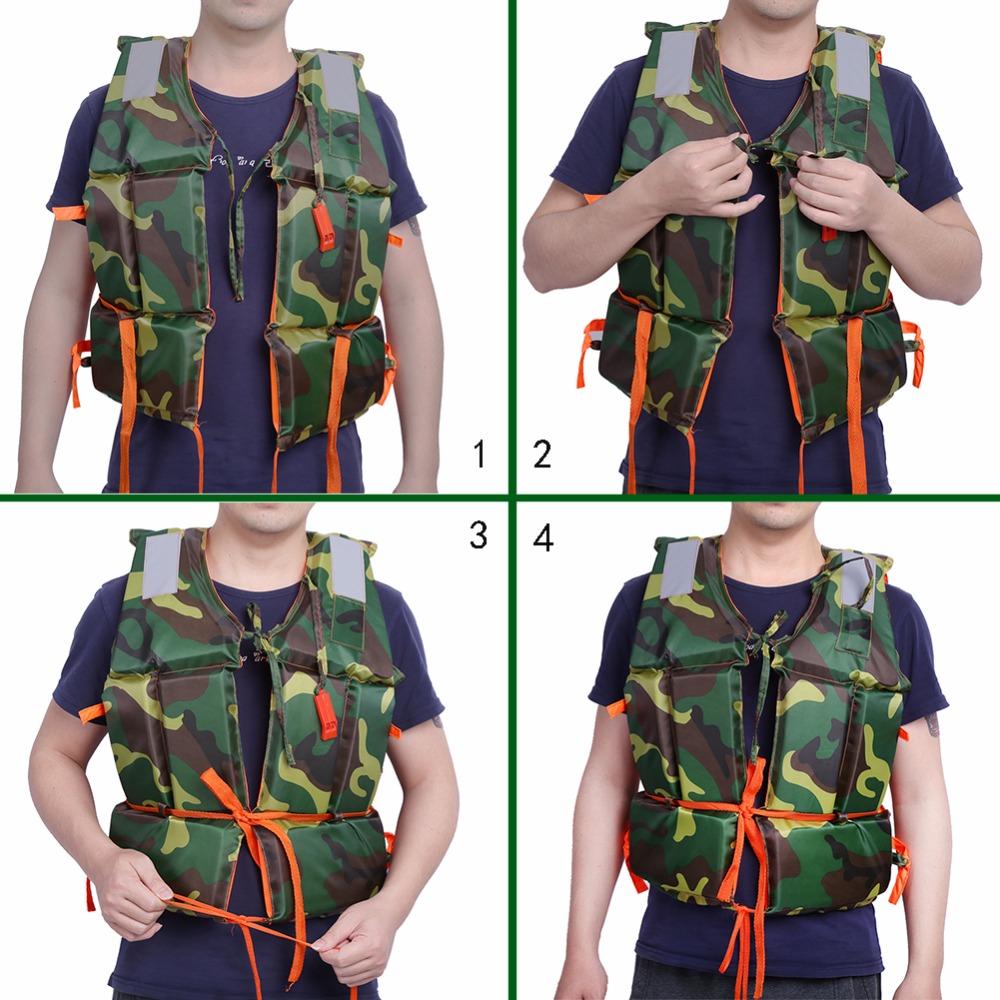 Adult Water Sports Boating Swimming Life Jacket Polyethylene Foam Life Vest With Whistle Buoyancy Aid Lifejacket(China (Mainland))