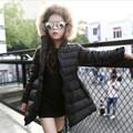 2016 Girl Winter Warm Coat Girl School Long Sleeve Fur Hooded Casual Jacket Kid Christmas Fashion