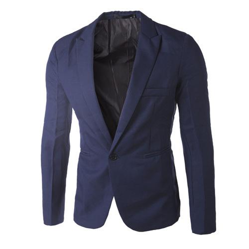 Men Blazer 2015 New Arrival One Button Blazer Men Casual Slim Fit Jacket Man Long Sleeve 8 Colors Suits Blazer Masculino(China (Mainland))