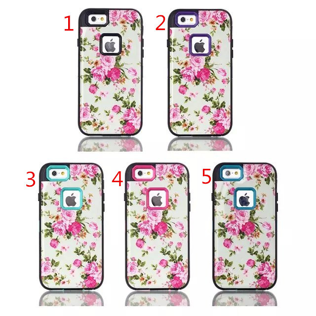 1PC case for iPhone 6 4.7 IMDB white flowers plug Case TOU Silicon shell mobile phone Case Cover in stock(China (Mainland))