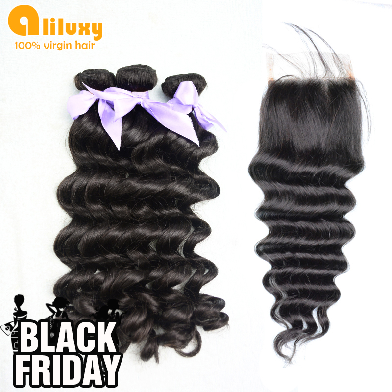 "Гаджет  Eurasian Virgin body wave 1 Piece Lace Top Closure with 3Pcs Hair Bundle,4pcs/lot,12""-30"" Free shipping by DHL None Волосы и аксессуары"