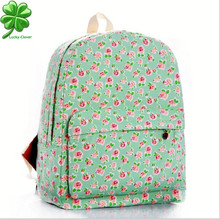 24 Color Women sweet smaller ditsy Rose Flower printing Backpack school college shoulder book bags preppy girls canvas backpacks