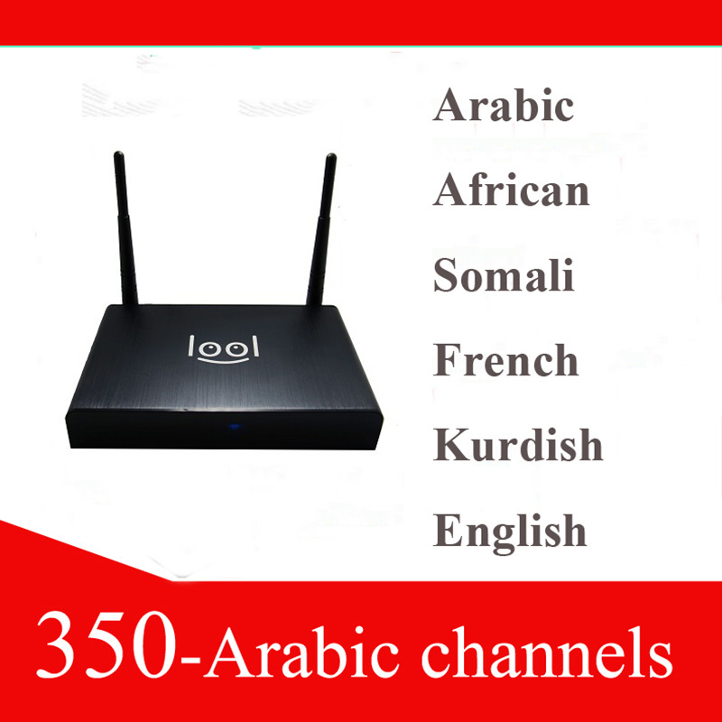 Free shipping arabic tv box, loolbox with 700+ channels,iptv arabic box with USB Huble(China (Mainland))