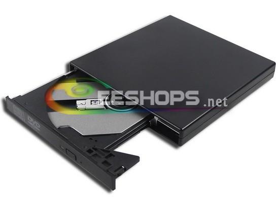 Laptop External USB 8X DVD Player DVD-ROM Combo 24X CD-R Burner Drive for Dell XPS 12 XPS12 Convertible Ultrabook Tablet PC Case(Hong Kong)