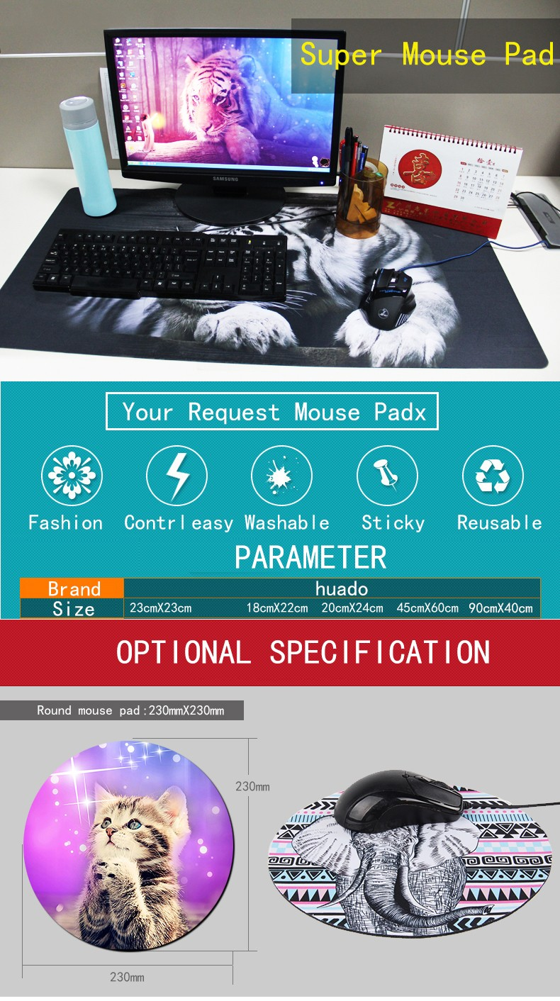 OEM Game Mouse Pad 900*400 high quality DIY picture with edge locking
