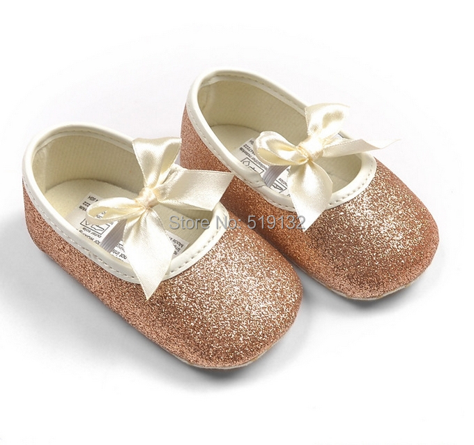 Baby Girl Princess Sparkly Shoes Infant Cute Princess Golden Silver Footwear Toddlers Fashion Soft Sole Shoes(China (Mainland))