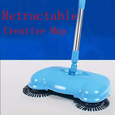 Hot sales stainless steel dustpans Household push sweeper No electric broom dustpan broom floor cleaner mop Free shipping(China (Mainland))