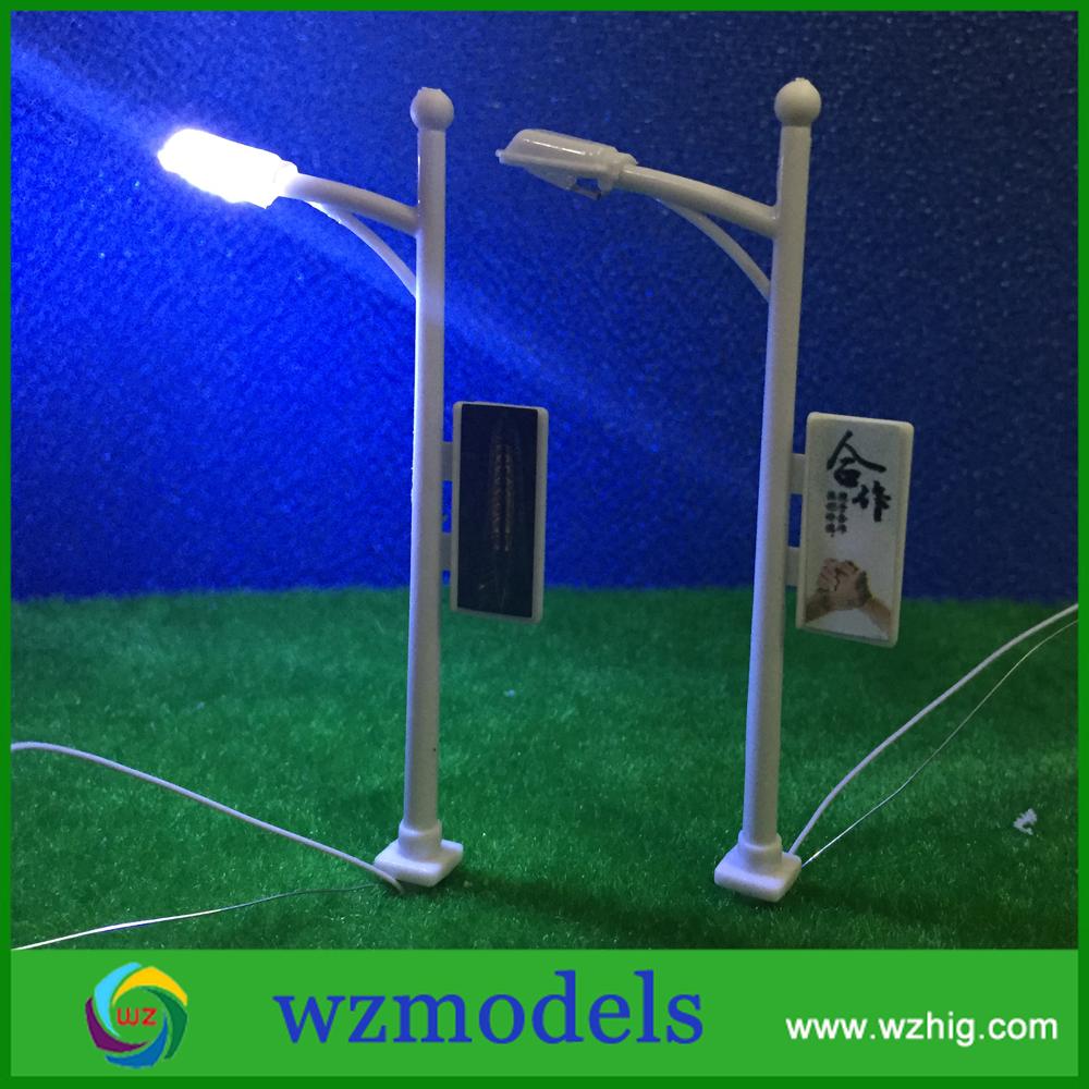 1/200 scale model solar street light  led street light / lamp post<br><br>Aliexpress